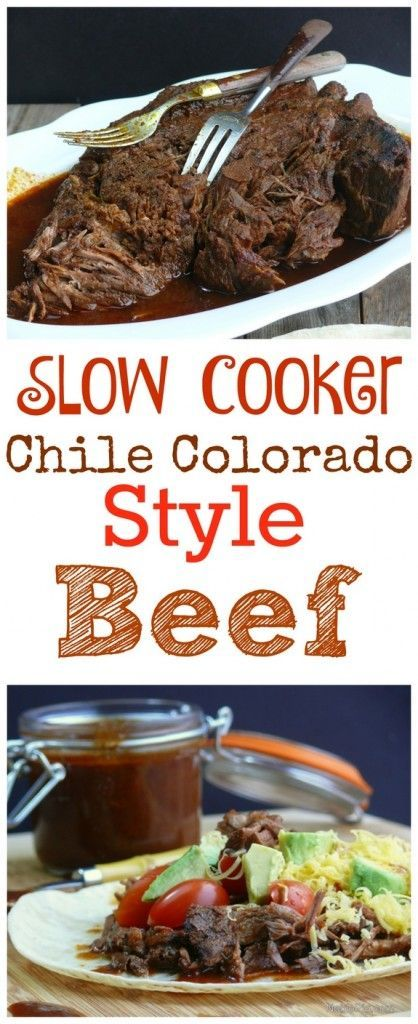 Slow Cooker Chile Colorado Style Beef Recipes