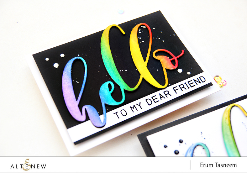 Altenew Mega Hello Die and Mega Greetings Stamp Set | Erum Tasneem | @pr0digy0