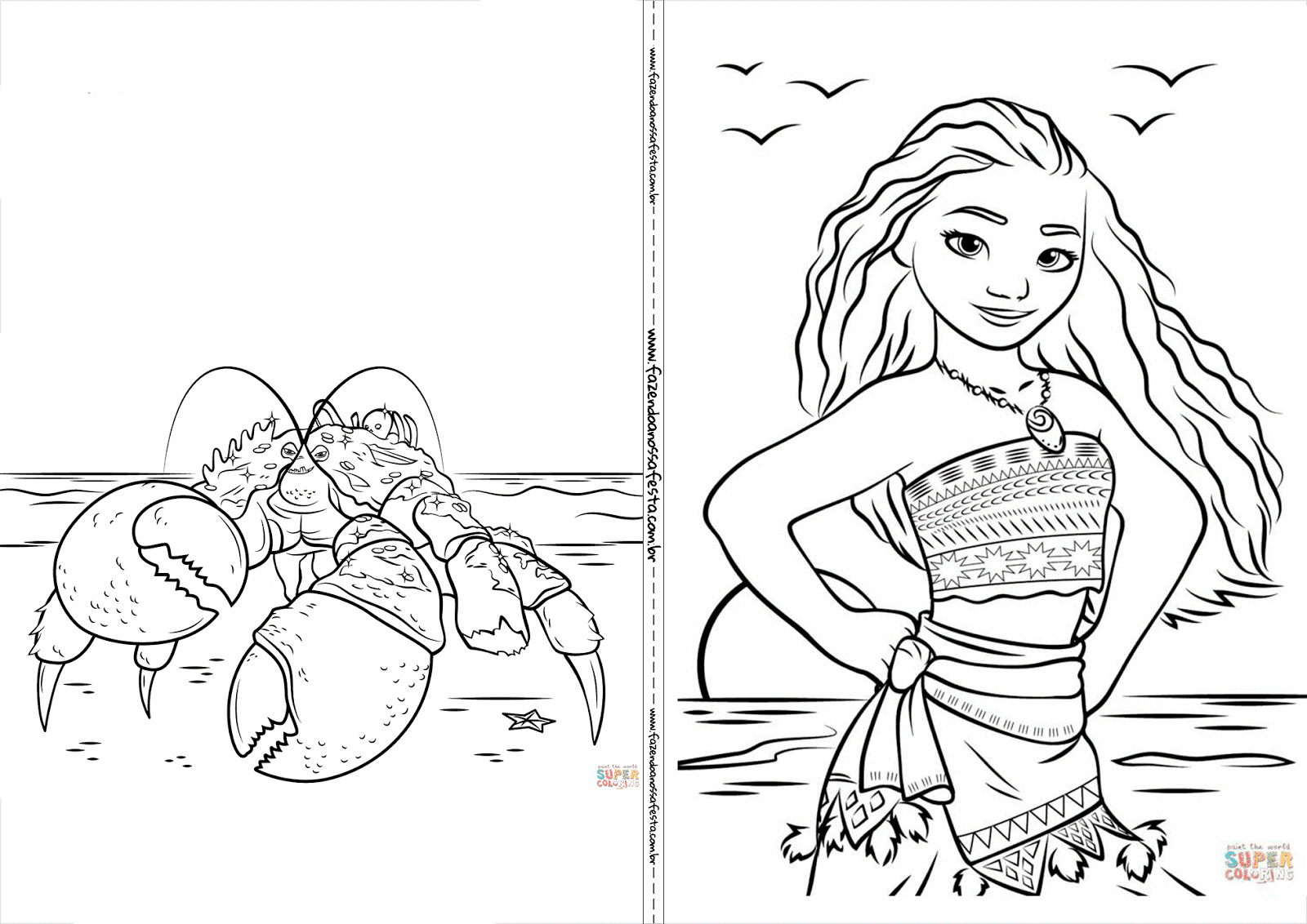 Moana Free Printable Coloring Book Oh My Fiesta In English