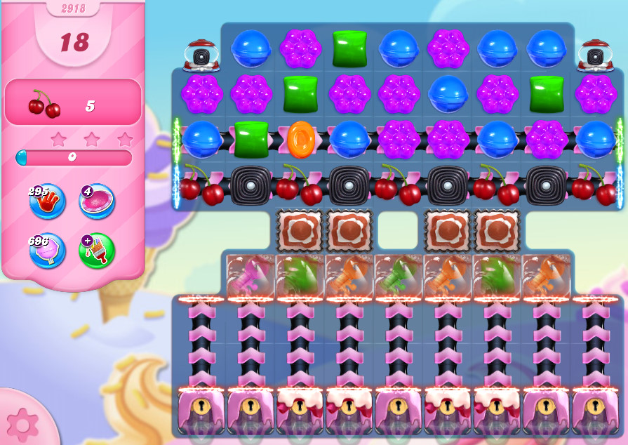 Candy Crush Saga level 2918
