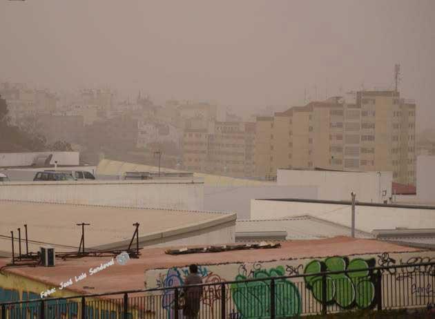 La calima a niveles altos esta tarde miércoles 12 septiembre en Las Palmas de Gran Canaria / Foto: José Luis Sandoval