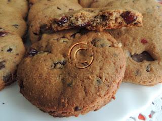 Cokoladni integralni keksici sa brusnicama