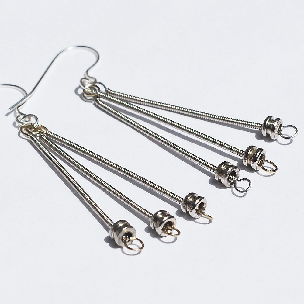guitar string jewelry by tanith rohe guitar string jewelry silver ball end guitar string earrings. Black Bedroom Furniture Sets. Home Design Ideas