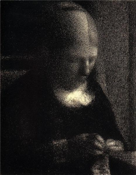 Georges Seurat, Aquatint of the artist's mother, 1883