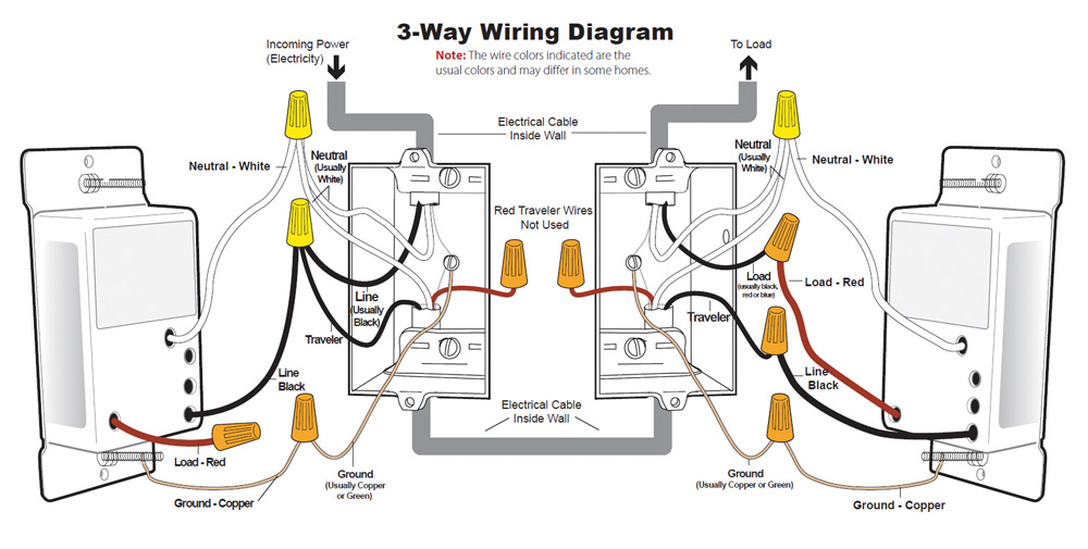 3 ways dimmer switch wiring diagram