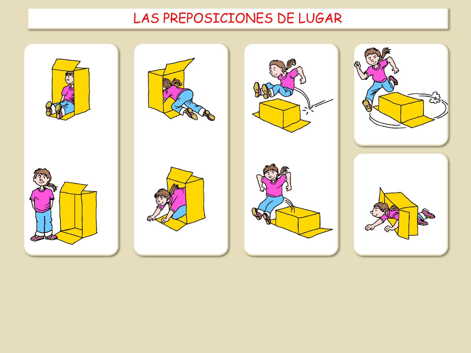 Me Encanta Escribir En Espanol Las Preposiciones De Lugar Donde Esta La Chica