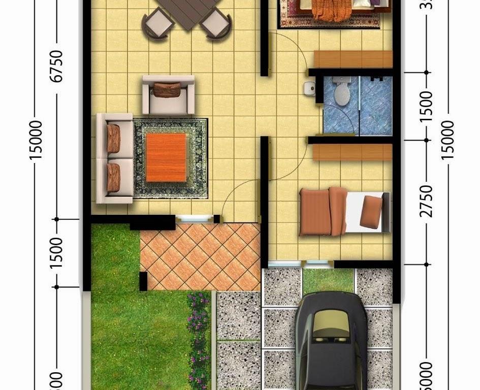 Desain Rumah Minimalis 2 Kamar Tidur Gambar Foto Desain