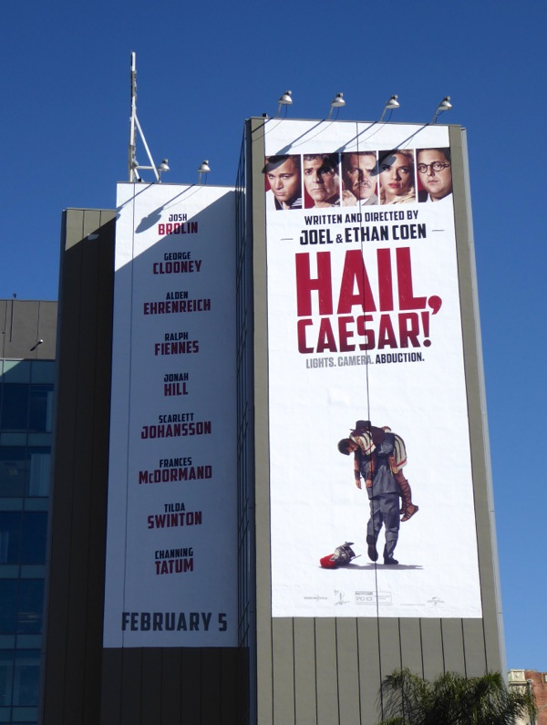Giant Hail Caesar movie billboard