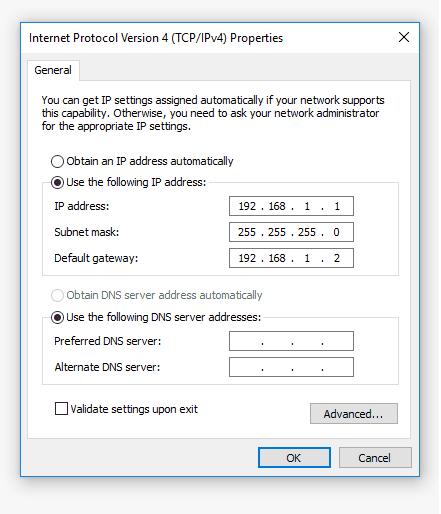 Pengaturan IP Komputer Satu
