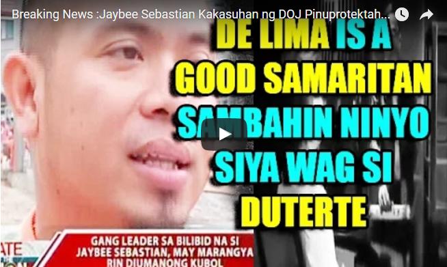 Breaking News :Jaybee Sebastian Kakasuhan ng DOJ Pinuprotektahan si De Lima
