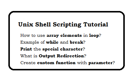 Unix Shell Scripting Tutorial - page 3