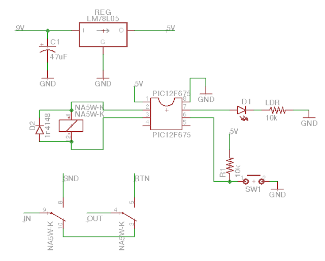 Relay bypass schematic