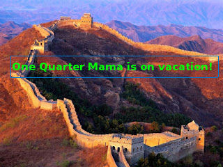 onequartermama.ca on vacation great wall china