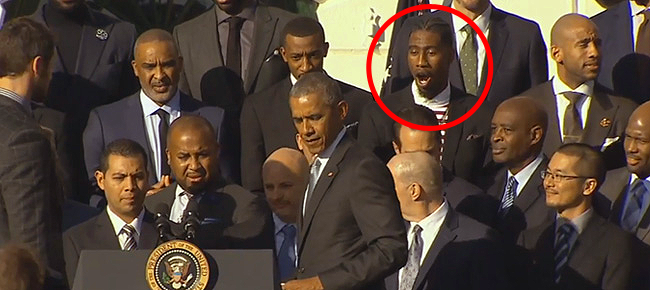 Iman Shumpert Absolutely Shocked by the Removable Podium at the White House (VIDEO)