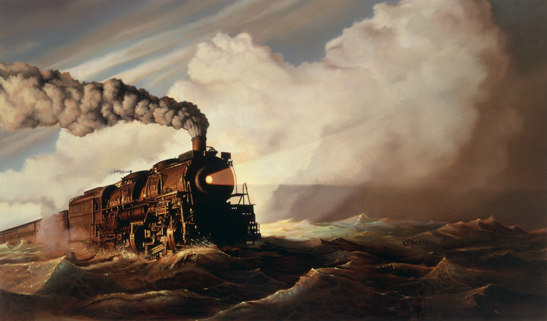 11-Train-Riding-the-Ocean-Tim-O-Brien-Conceptual-Paintings-that-use-Art-to-Express-an-Idea-www-designstack-co