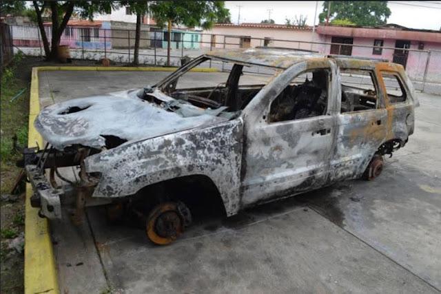 Quemaron vivos a un comerciante y a una mujer dentro de su vehículo en Yaracuy