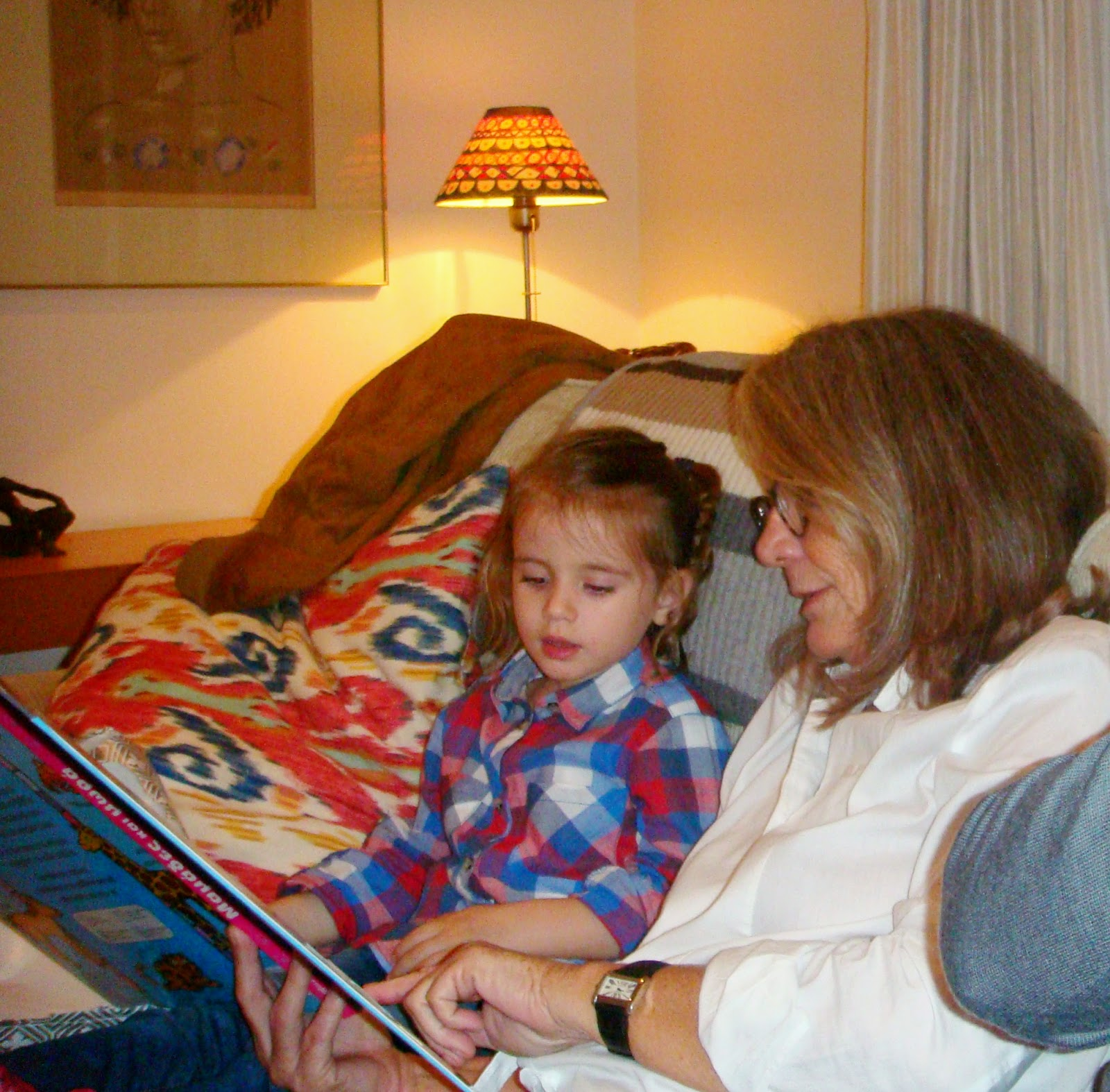 Reading with yiayia