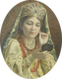 tanara-privindu-se-in-oglinda-v.makovski-1916