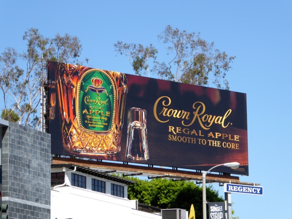 Crown Royal Regal Apple Smooth to core billboard