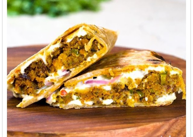 Veg Seekh Kabab Paratha Wrap