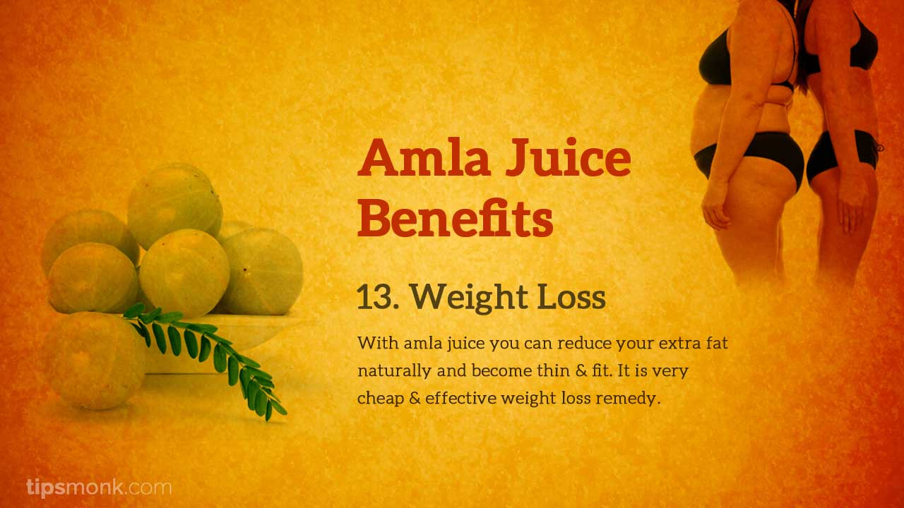 Amla juice benefits for weight loss - Tipsmonk