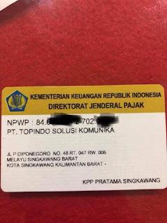 NPWP Perusahaan Topindo
