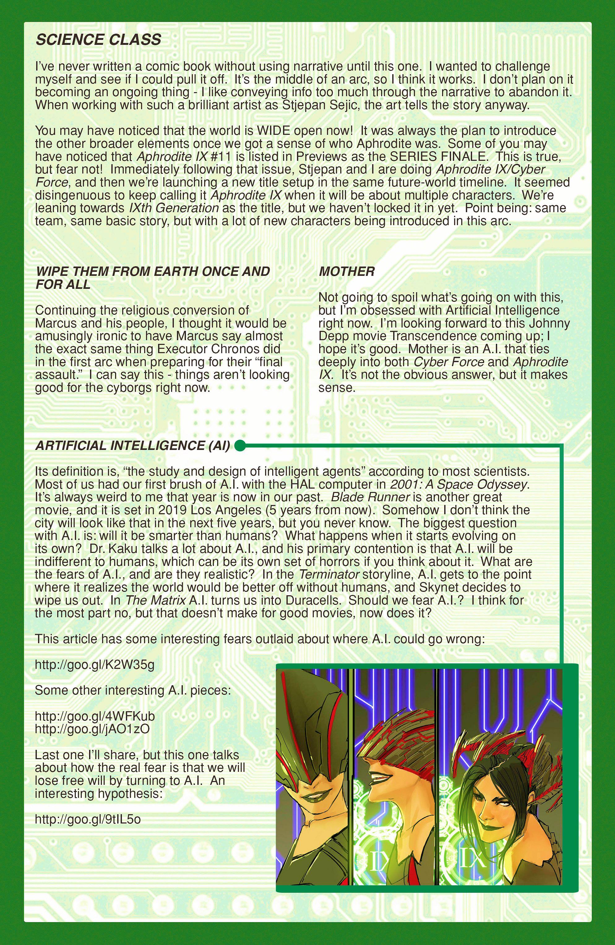 Read online Aphrodite IX (2013) comic -  Issue #9 - 22