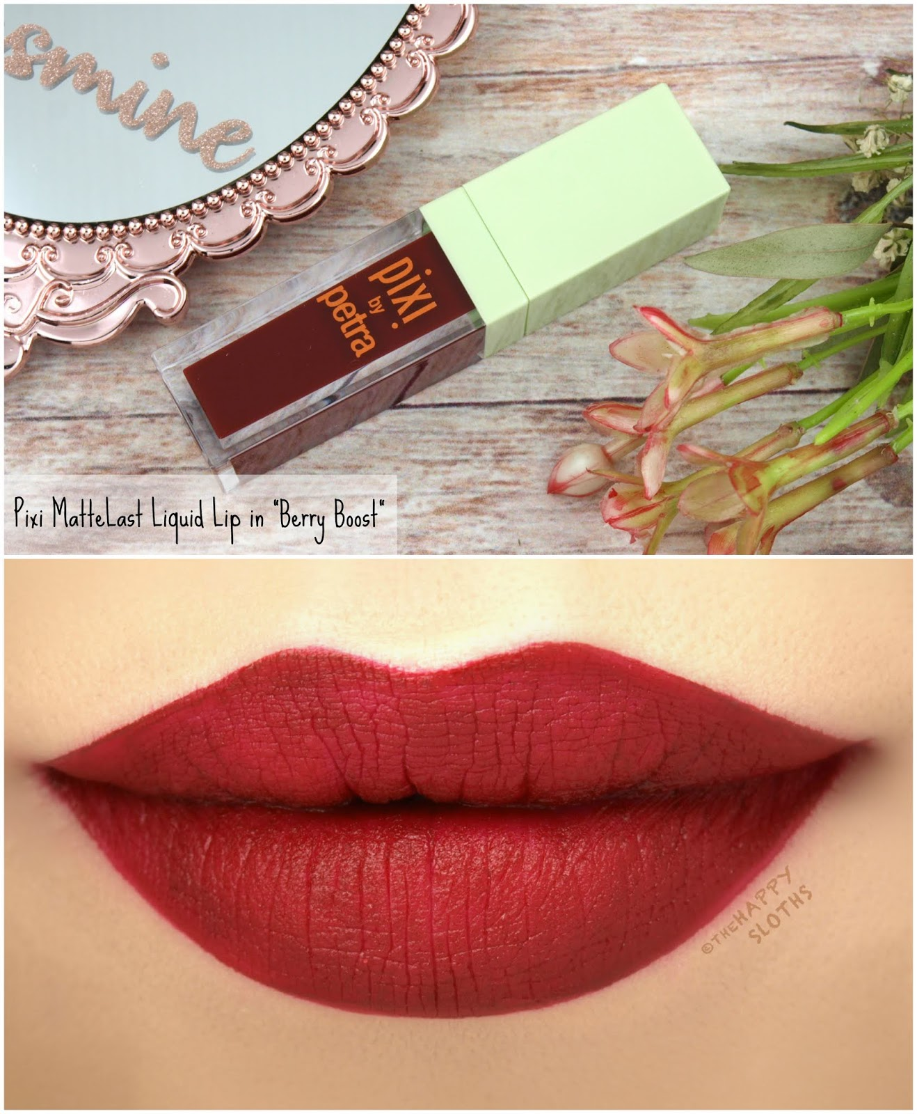 "Pixi | MatteLast Liquid Lip in ""Berry Boost"": Review and Swatches"