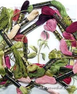 Threads for Trish Burr's Iceberg Rosebud