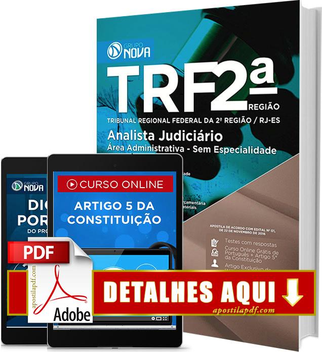 Apostila TRF 2 Região 2016 PDF Impressa Analista Judiciário Área Administrativa