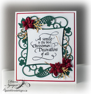 Diana Nguyen, Quietfire Design, Christmas, A smile is the best, Spellbinders
