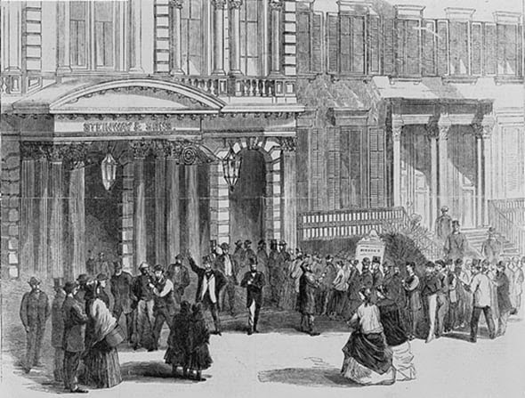 Dickens Readings_at_Steinway_Hall, Boston,1867