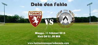 Data dan Fakta Liga Fantasia Serie A Gio 24 Torino vs Udinese Fantasi Manager Indonesia