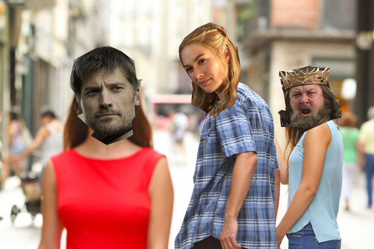Jaime Lannister, Cersei Lannister y Robert Baratheon (Game of Thrones)