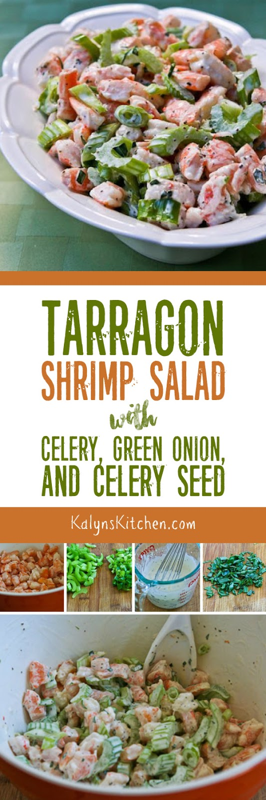 Tarragon Shrimp Salad with Celery, Green Onion, and Celery Seed [found ...