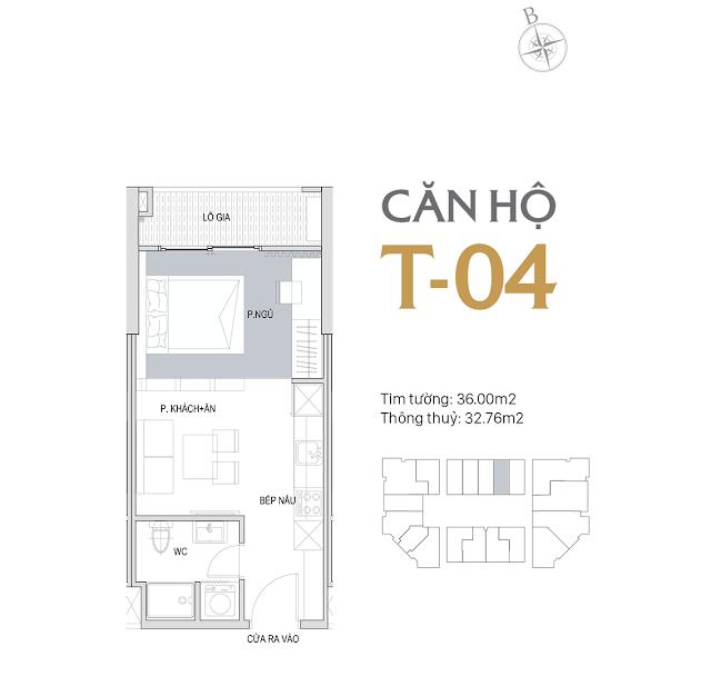 Thiết kế chi tiết căn hộ E1-04 dự án D'el Dorado phú thượng