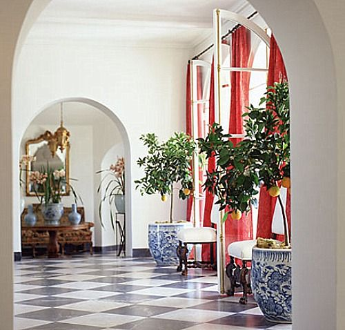 Photos Of Blue And White Chinese Porcelain Planters Used Indoors Out To Inspire You I Especially Love Orchids Palms Fiddle Leaf Figs
