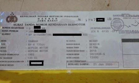 Mega-Biro Jasa Bandung-STNK