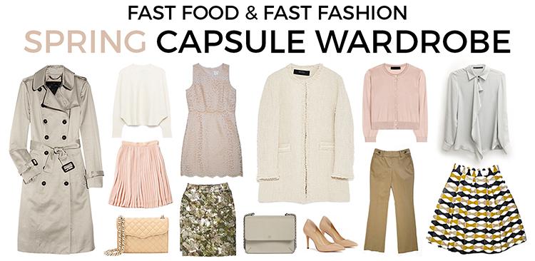 spring capsule wardrobe fast food fast fashion a