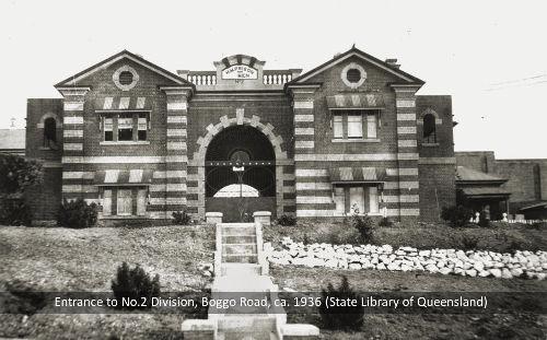 Main gates of No.2 Division, Boggo Road Gaol, Brisbane, c.1936.