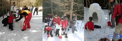 randonnée raquette et construction d'igloos à Font-Romeu