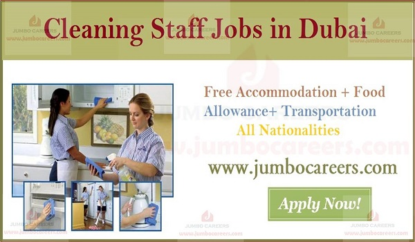 Cleaning staff jobs in Gulf countries, Salary  details of cleaning jobs in Dubai,
