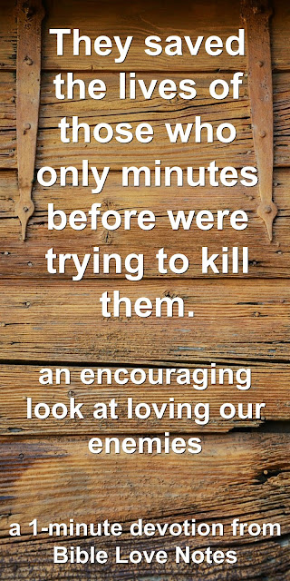 An amazing wartime truth about loving enemies