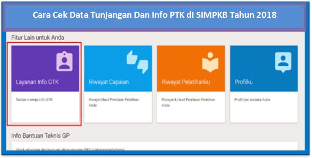 Cek Data Tunjangan Dan Info PTK di SIMPKB