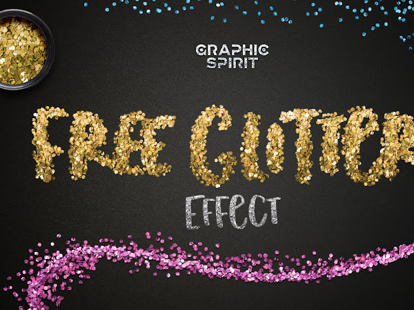 Download Photoshop Realistic Glitter Effect Free