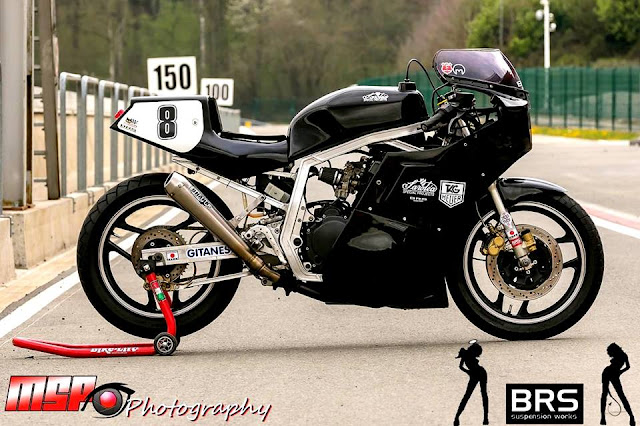 1987 Suzuki GSXR 750 Slabside Track Bike by Team BRS Suspension