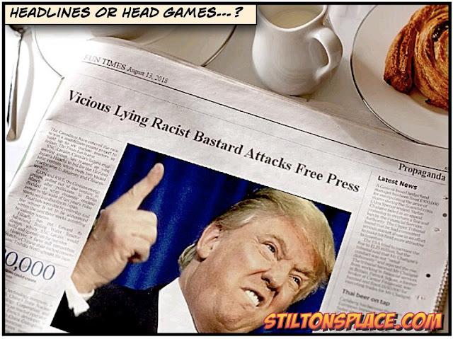 stilton's place, stilton, political, humor, conservative, cartoons, jokes, hope n' change, trump, 100 papers, fake news, editorials, advertising, spin