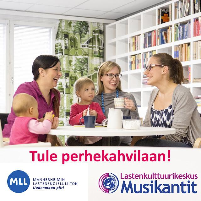 Tervetuloa mukaan Kurkimäen korttelitalolle MLL perhekahvilaan.