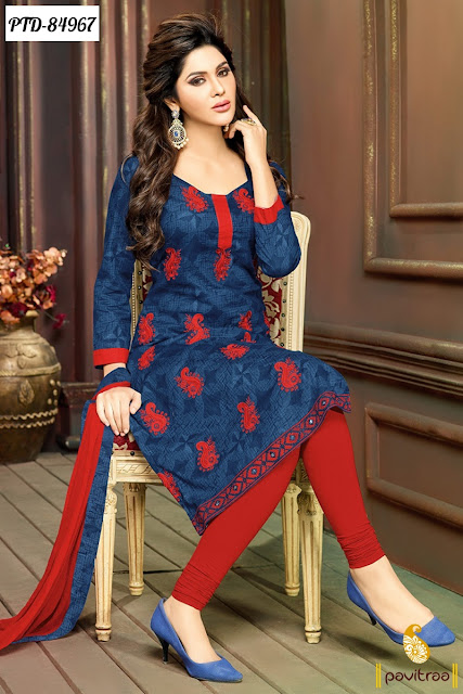Stylish Straight Cut Traditional salwar Kameez Suits Online