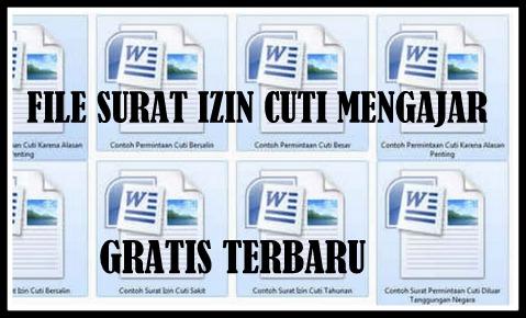Download Contoh File Surat Izin Cuti Mengajar Terbaru GRATIS